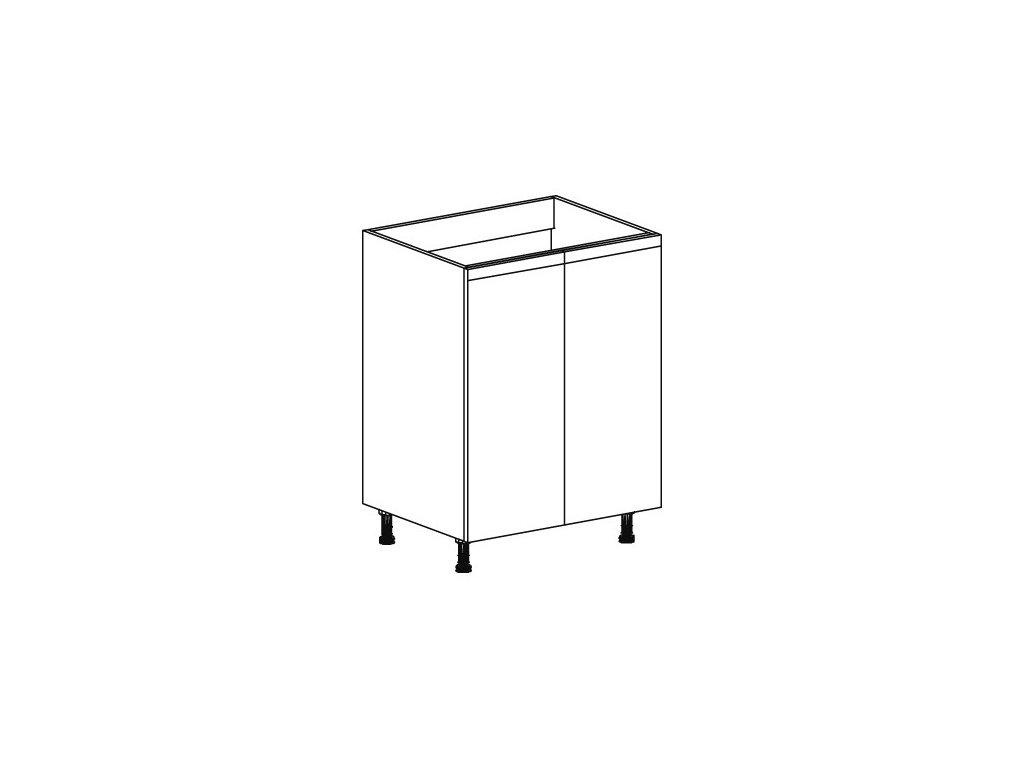 Kuchyňská skříňka spodní Domel Lesk D-60/82/Z