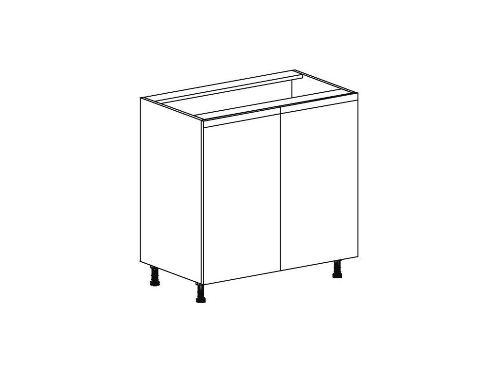 Kuchyňská skříňka spodní Domel Lesk D-80/82