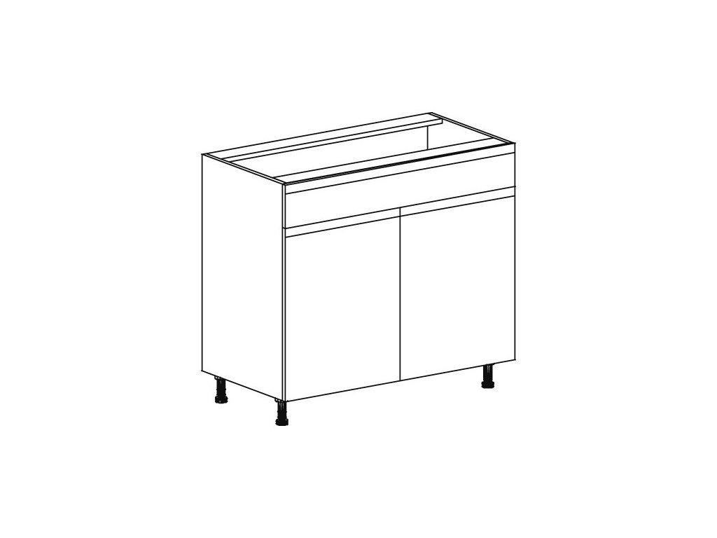 Kuchyňská skříňka spodní Domel Lesk D-90/82/1Sz