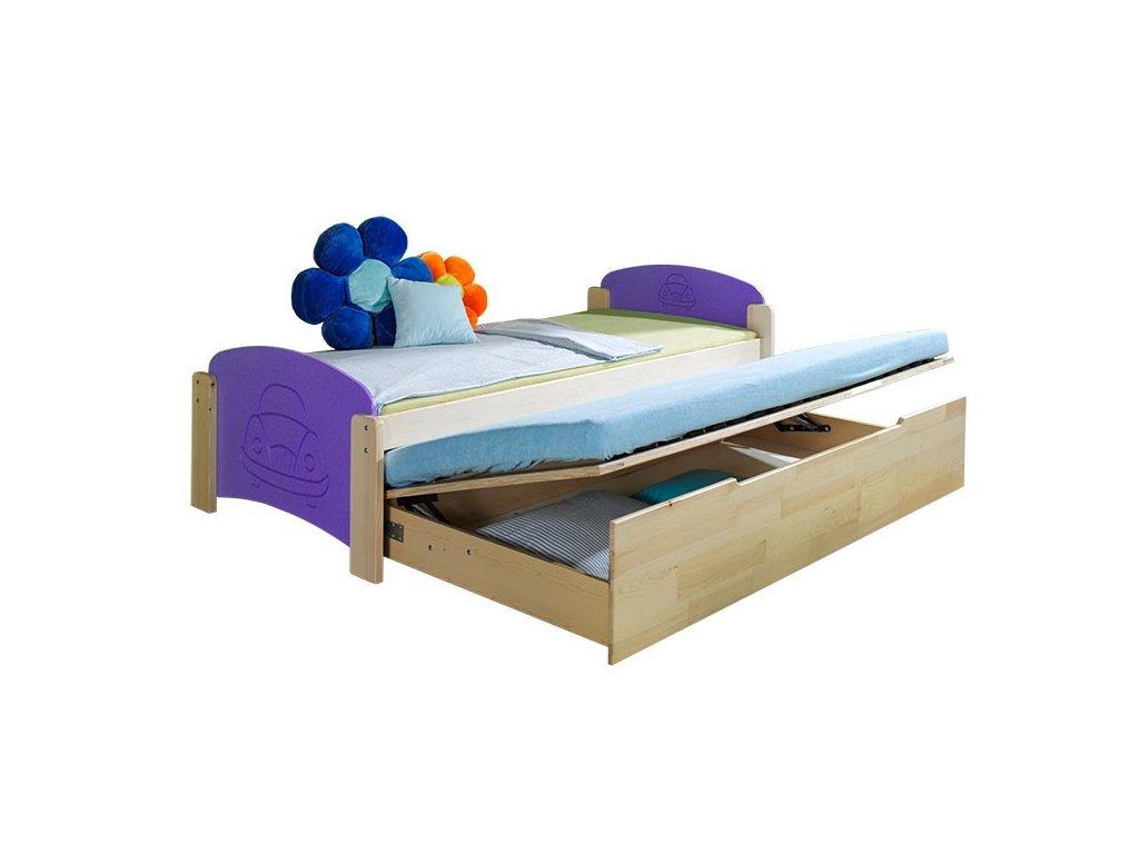 Dětská postel s přistýlkou JAS 2 Dolmar 101/74/210