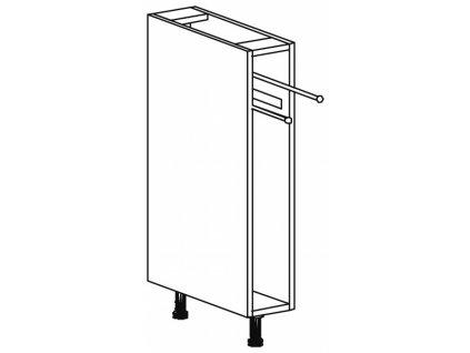 Kuchyňská skříňka spodní Domel Lesk D-15/82/OR