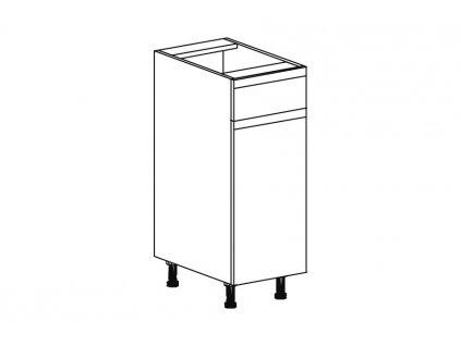 Kuchyňská skříňka spodní Domel Lesk D-30/82/1Sz-Pr/Lw