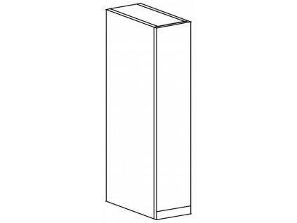 Kuchyňská skříňka horní Domel Lesk G-15/72-Pr/Lw