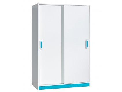 Šatní skříň s posuvnými dveřmi TRAFIKO 14 Domel 120/189/60