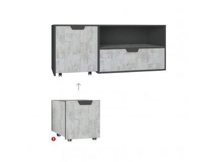 Televizní stolek NA10 NANO Meblar 120/45/50