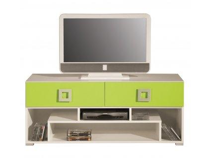 Televizní stolek LABYRINT LA11 Meblar 125/53/52 výprodej krém/orange