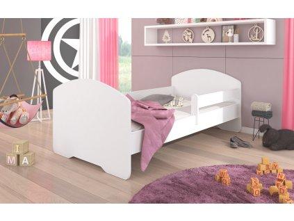 Dětská postel PEPE se zábranou a matrací Adrk 88/63/164