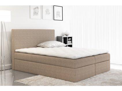 Łóżko kontynentalne BASIC w tkaninie Olimp 1