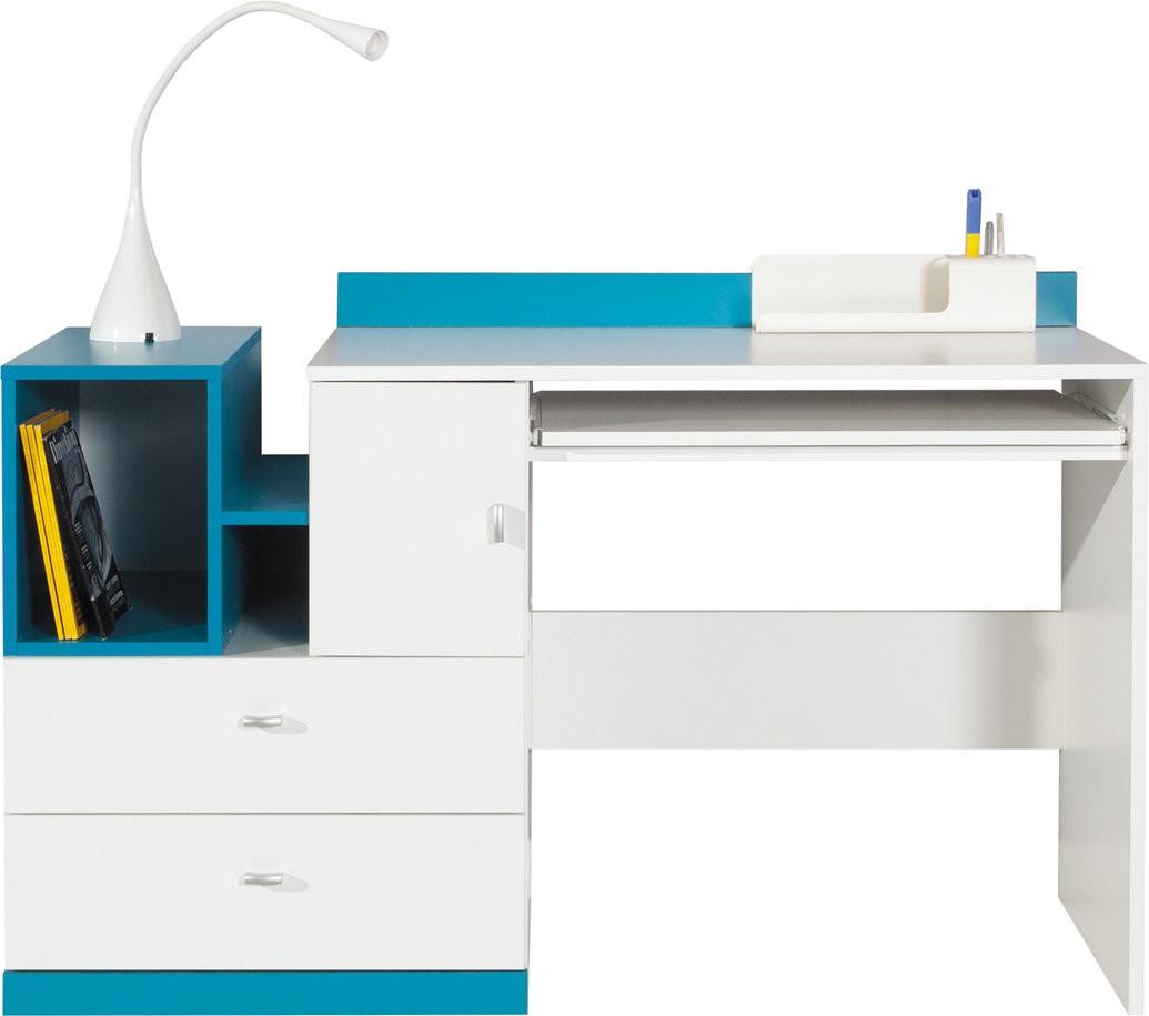 Meblar Psací stůl MOBI MO11 Meblar 130/83/55 Barva: bila-modra