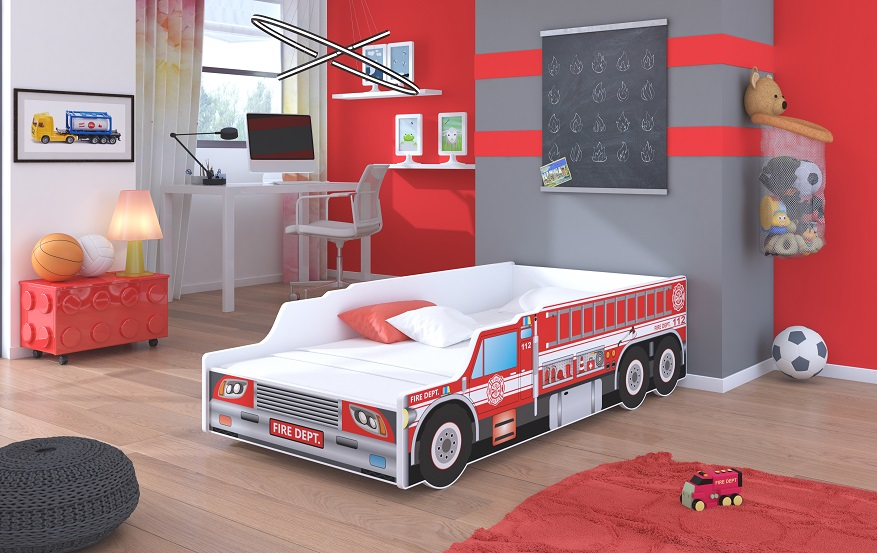 Adrk Dětská postel FIRE TRUCK Adrk 74/48/153