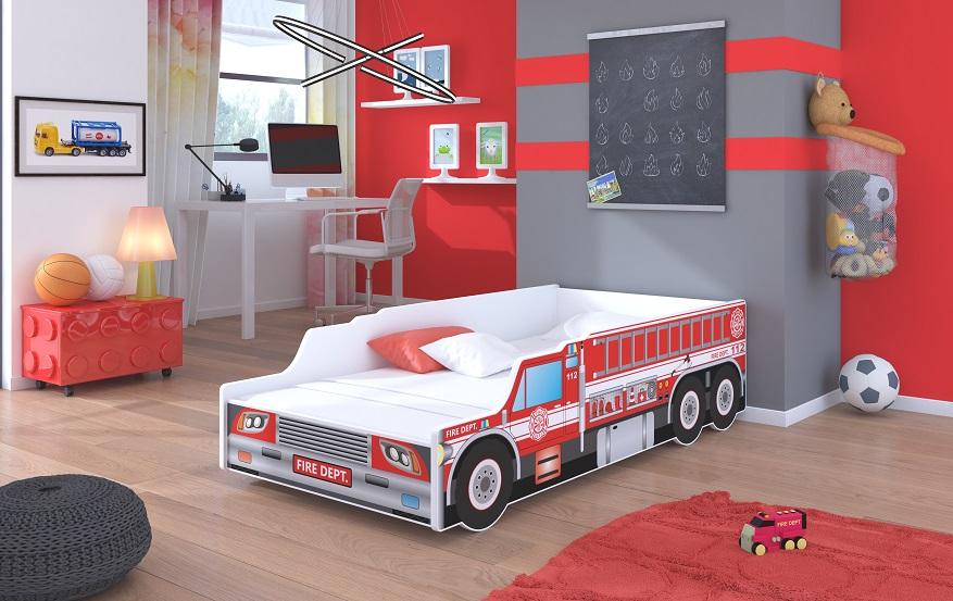Adrk Dětská postel FIRE TRUCK Adrk 84/52/171