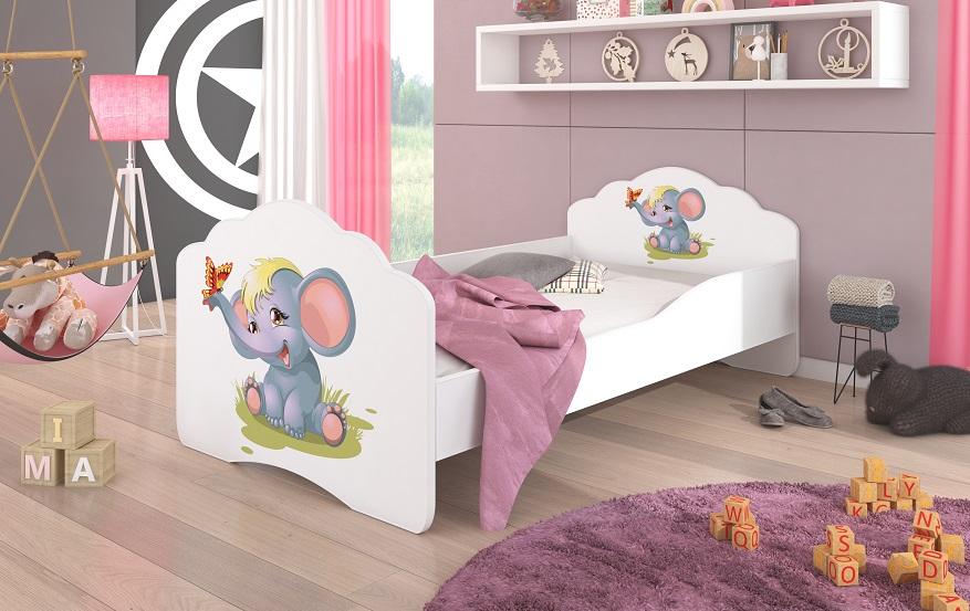 Adrk Dětská postel CASIMO SLŮNĚ Adrk 78/58/144