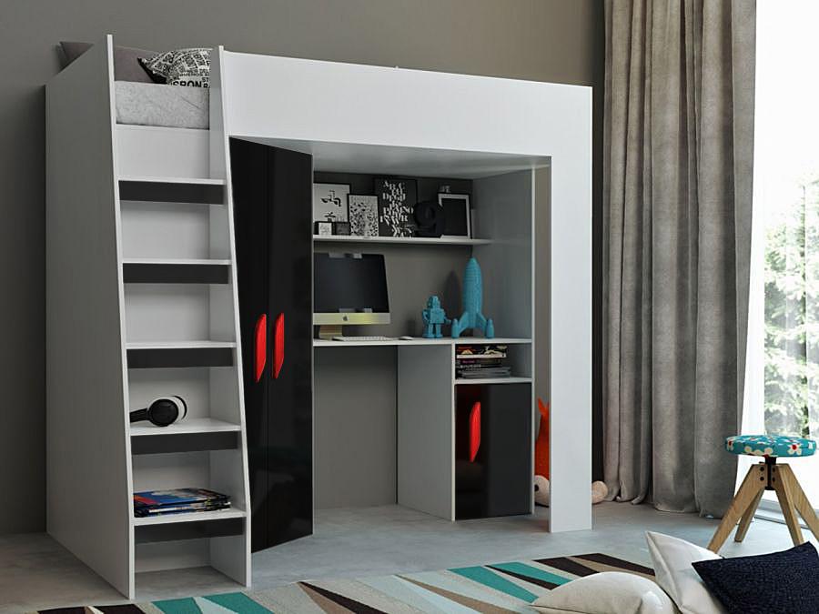 Abika Patrová postel TABLET 2 Abika 125/185/203 Barva: cerna