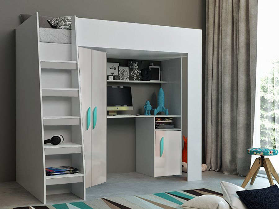 Abika Patrová postel TABLET 2 Abika 125/185/203 Barva: bila