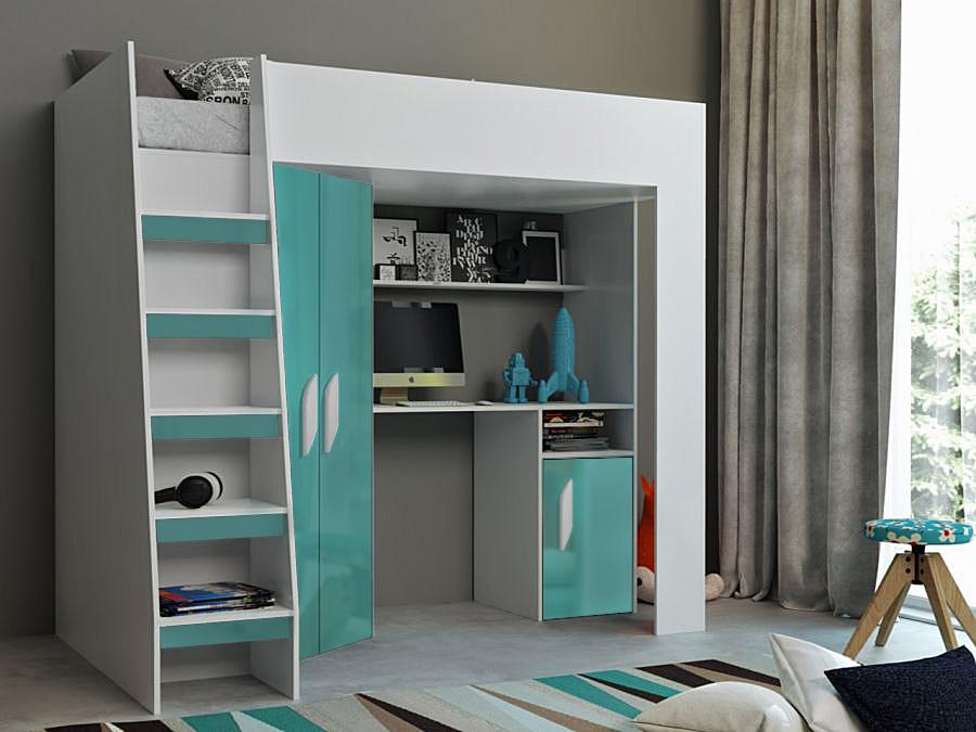 Abika Patrová postel TABLET 2 Abika 125/185/203 Barva: tyrkys