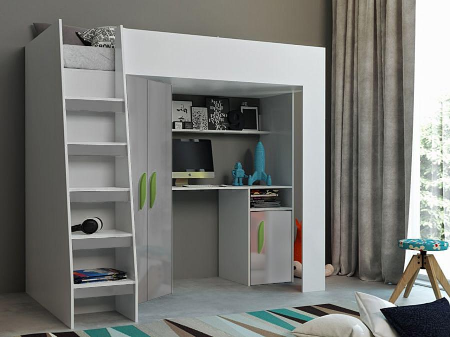 Abika Patrová postel TABLET 2 Abika 125/185/203 Barva: seda