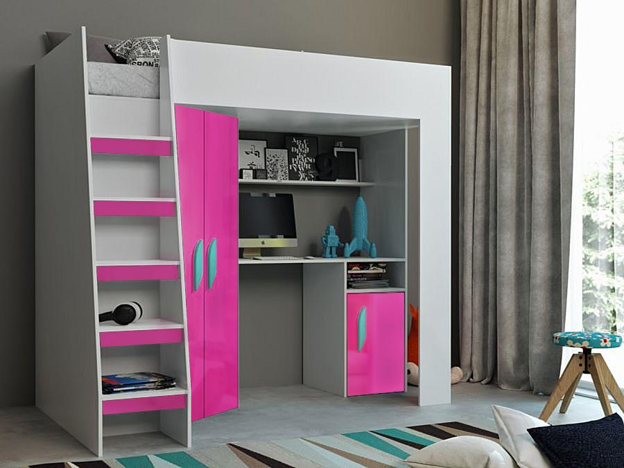 Abika Patrová postel TABLET 2 Abika 125/185/203 Barva: ruzova