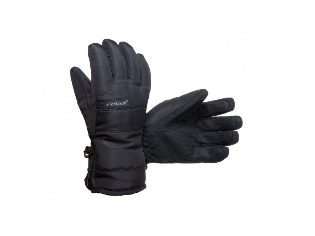 relax rr07a cerna detske lyzarske rukavice