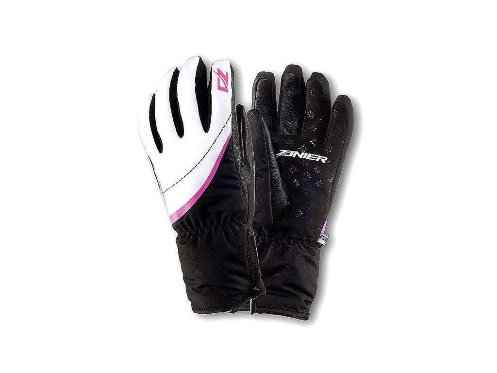 Dámské lyžařské rukavice Zanier Stubai.zx - black/white/pink