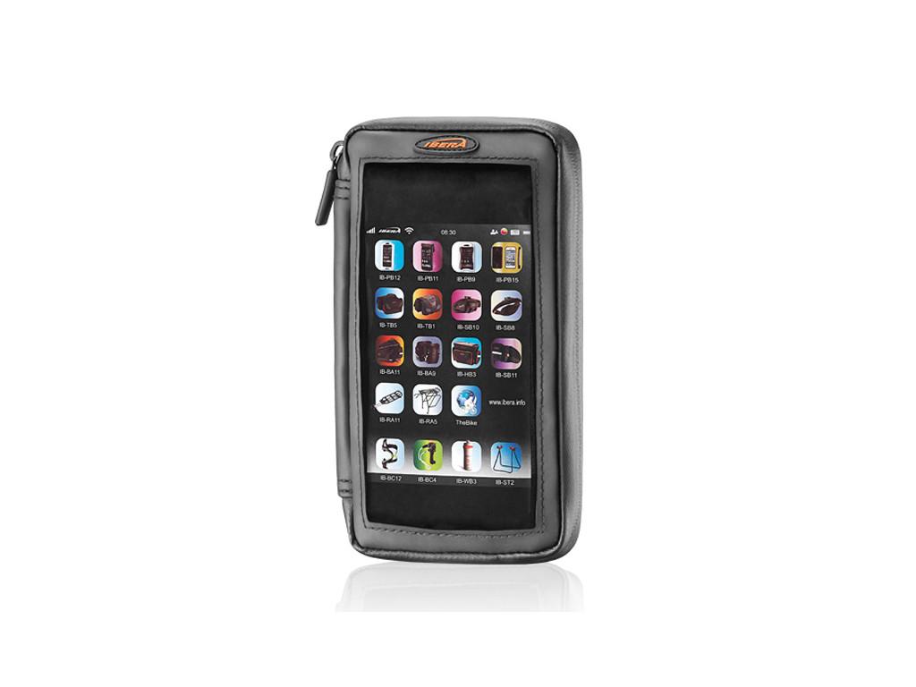 """Pouzdro s peněženkou pro Smartphone 4.5 - 5"""" na představec IBERA IB-PB22"""
