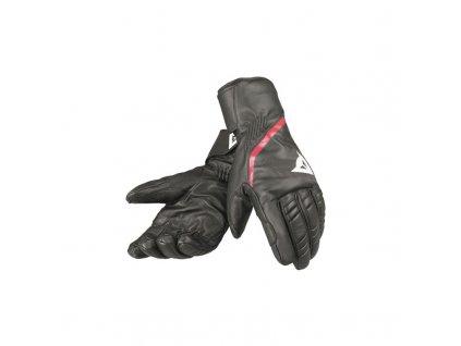 Pánské lyžařské rukavice Dainese Speedcarve 13 Glove - black/white/fire red