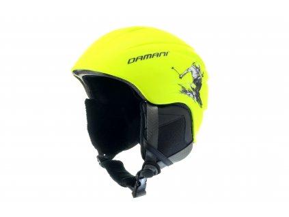 Dětská lyžařská helma Damani - Skier C02 - žlutá