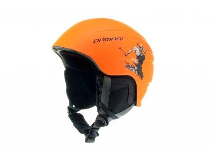 Dětská lyžařská helma Damani - Skier C02 - oranžová