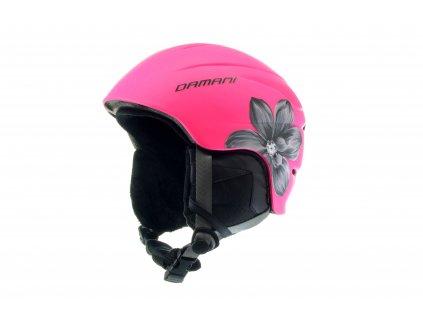 Dětská lyžařská helma Damani - Skier C02 - růžová