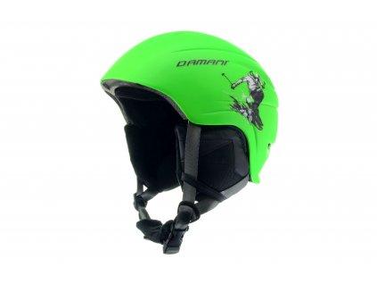 Dětská lyžařská helma Damani - Skier C02 - zelená