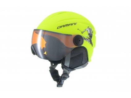 Dětská lyžařská helma Damani - Skier Visor C03 - žlutá
