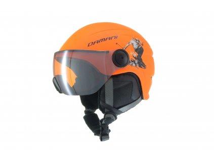 Dětská lyžařská helma Damani - Skier Visor C03 - oranžová