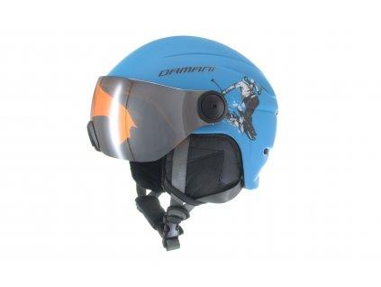 Dětská lyžařská helma Damani - Skier Visor C03 - modrá