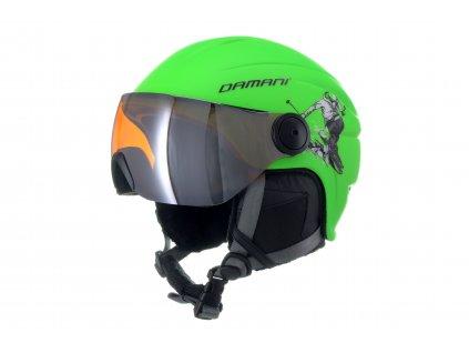 Dětská lyžařská helma Damani - Skier Visor C03 - zelená