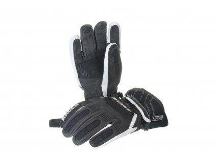 Lyžařské pánské rukavice Damani R01 - TOP celokožené (černo-bílá)