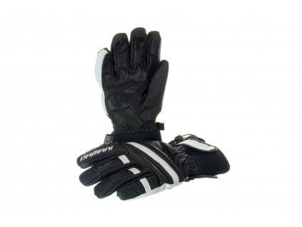 Lyžařské pánské rukavice Damani R03 - SKI celokožené (černo-bílá)
