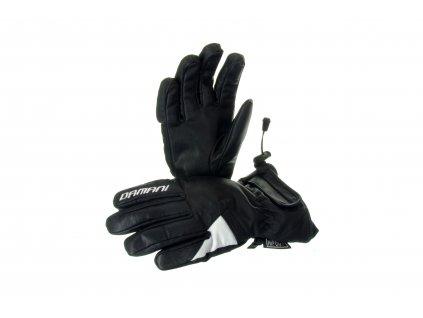 Lyžařské dámské rukavice Damani R05 - celokožené (černo-bílá)