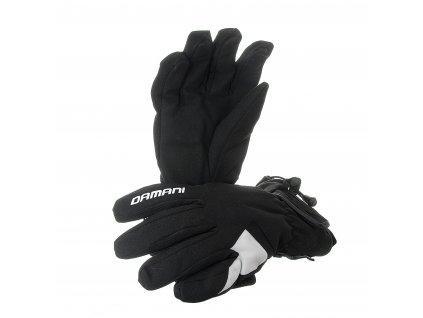 Lyžařské dámské rukavice Damani R06 - látkové (černo-bílá)