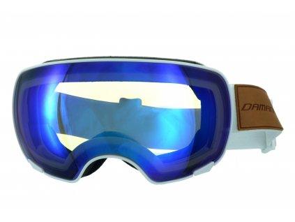 Magnetické brýle dámské Damani - GA04 - bílá (Sada=1x obručka, 1x modré zrcadlové sklo Revo, 1x rozjasňující sklo)