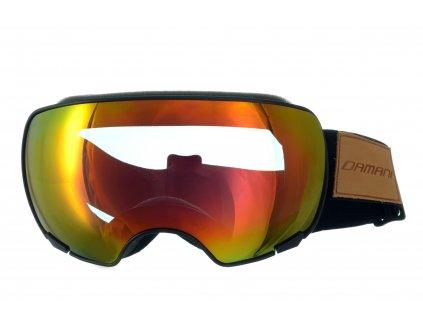 Magnetické brýle dámské Damani - GA04 - černá (Sada=1x obručka, 1x červené zrcadlové sklo Revo, 1x rozjasňující sklo)
