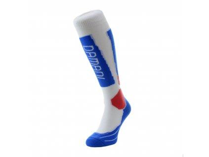 Ponožky Damani Race SA02 - bílo/modro/červená
