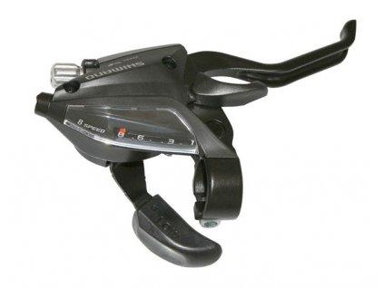 Řadící + brzdová páčka SHIMANO STEF 500 8sp.  V-brake pravá