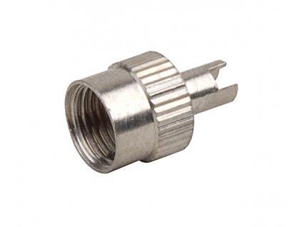 Čepička ventilku AV kovová s klíčem