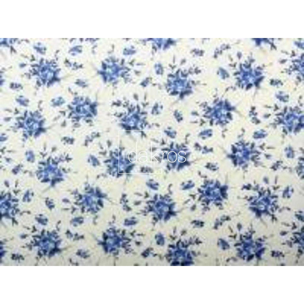 Bavlna Květy modré
