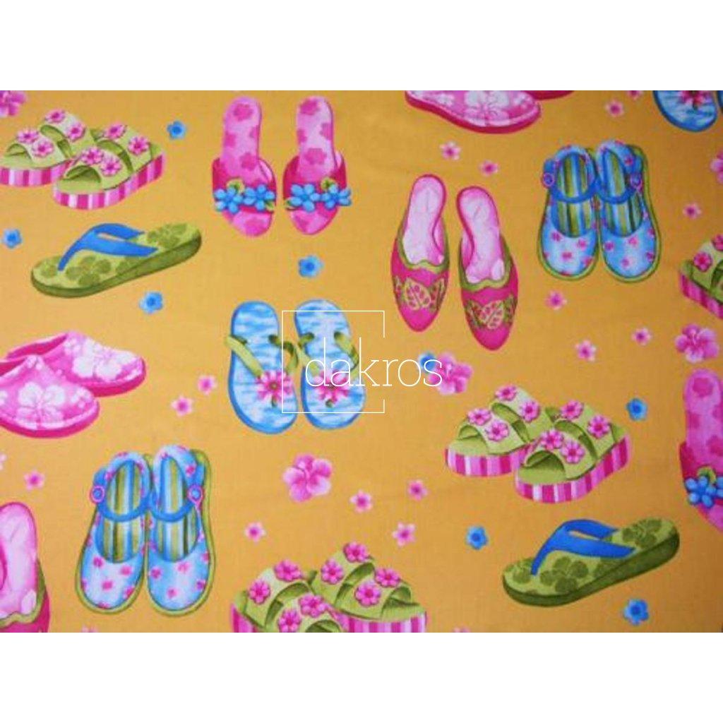 Bavlna s dívčí botou