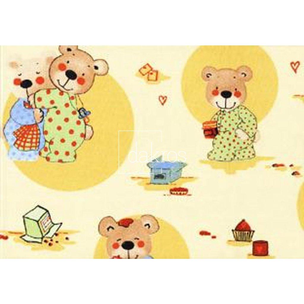 Bavlna s medvídkem
