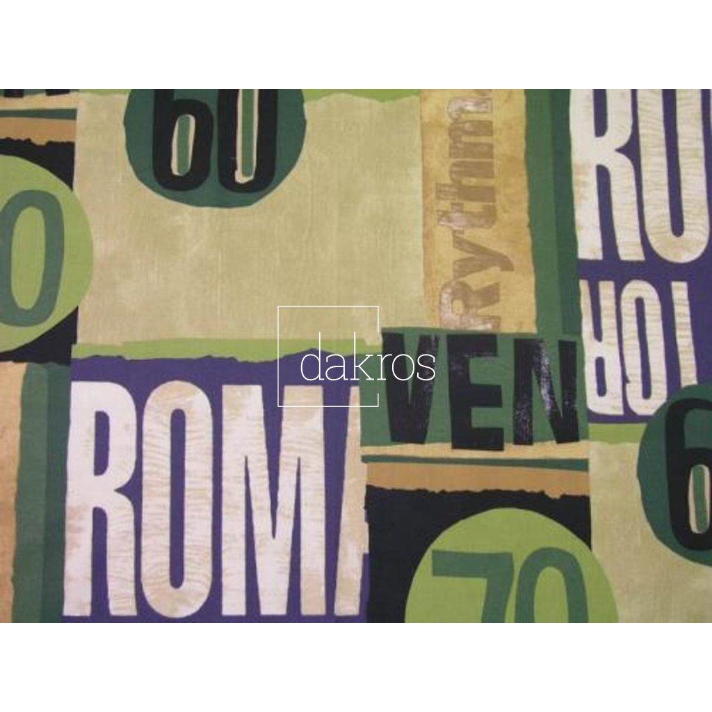 Bavlna Nápisy zelené