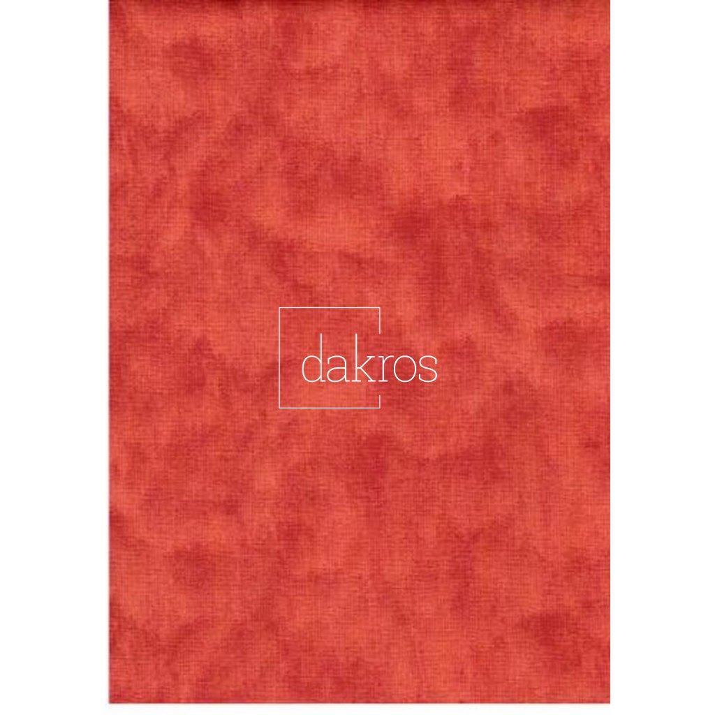 Bavlna Červeno hnědá mramor
