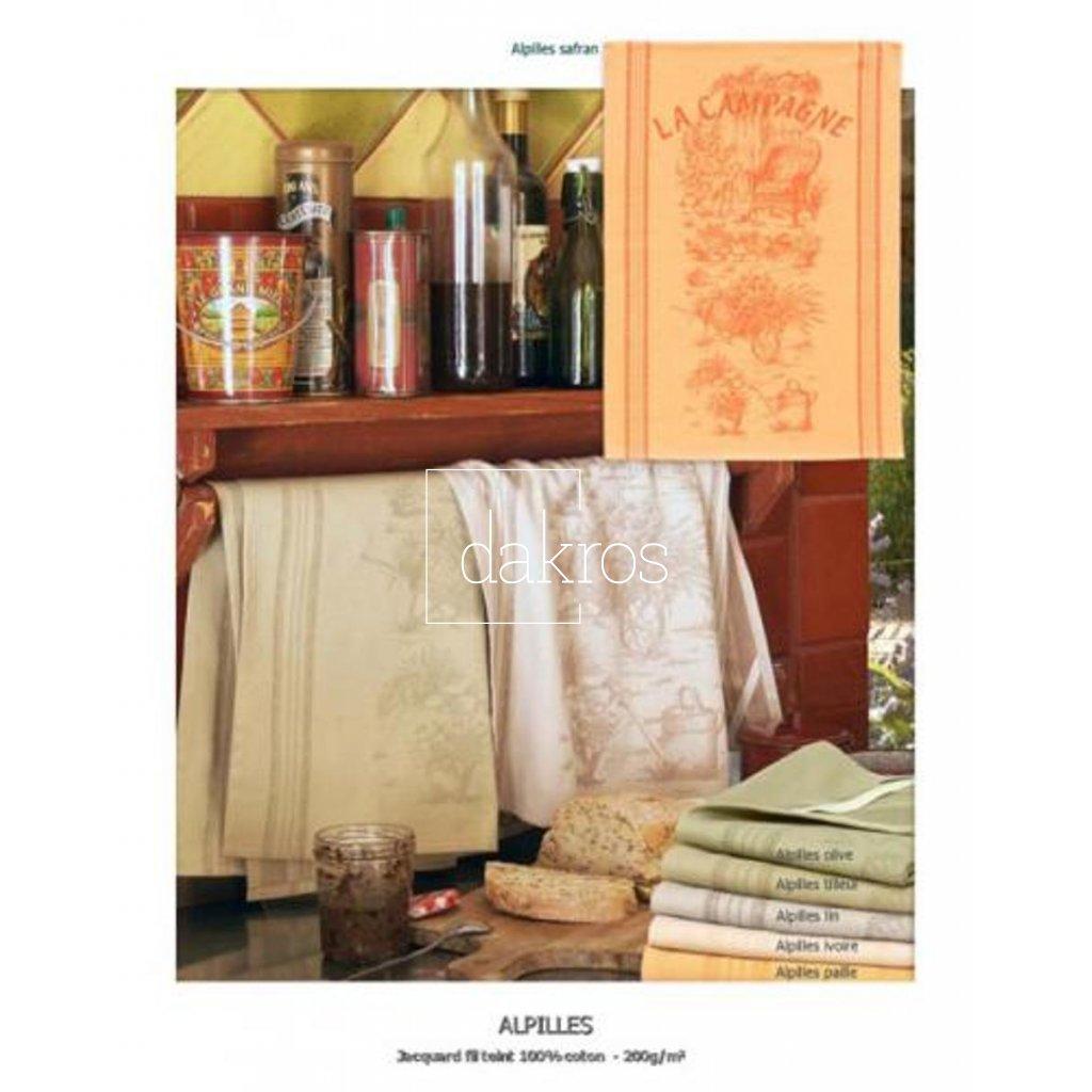 Utěrky s provensálským vzorem, materiál 100% Bavlna, velikost 47 X 70 cm