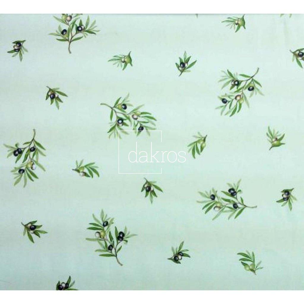 Bavlna Olivy zelené na ploše