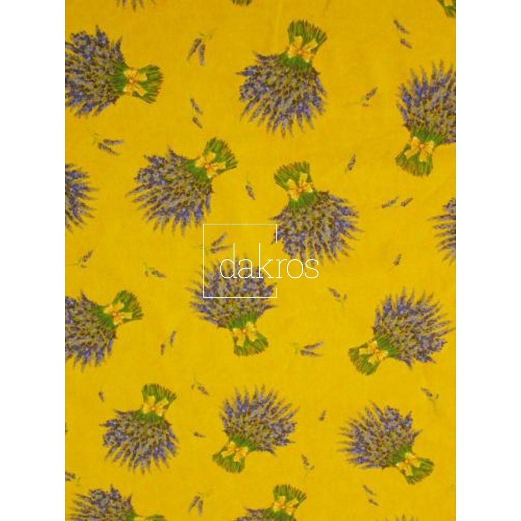Bavlna Levandule žlutá